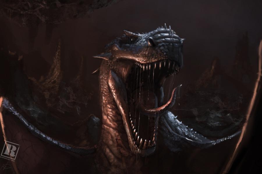 Black Stone Dragon by Raph04art