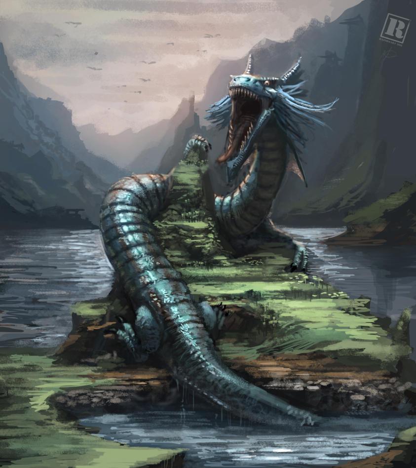 Water Dragon by Raph04art on DeviantArt