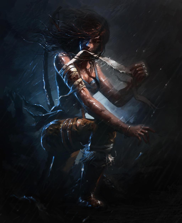 Lara Croft - Survivor by Raph04art