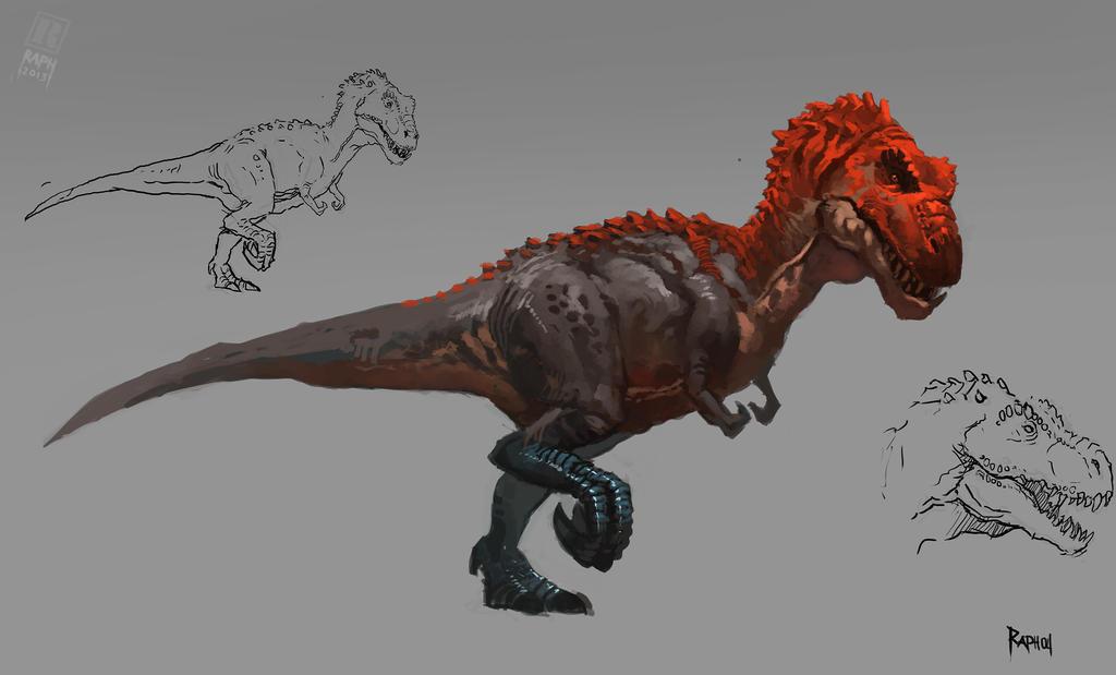 Animal study - Tyrannosaur by Raph04art