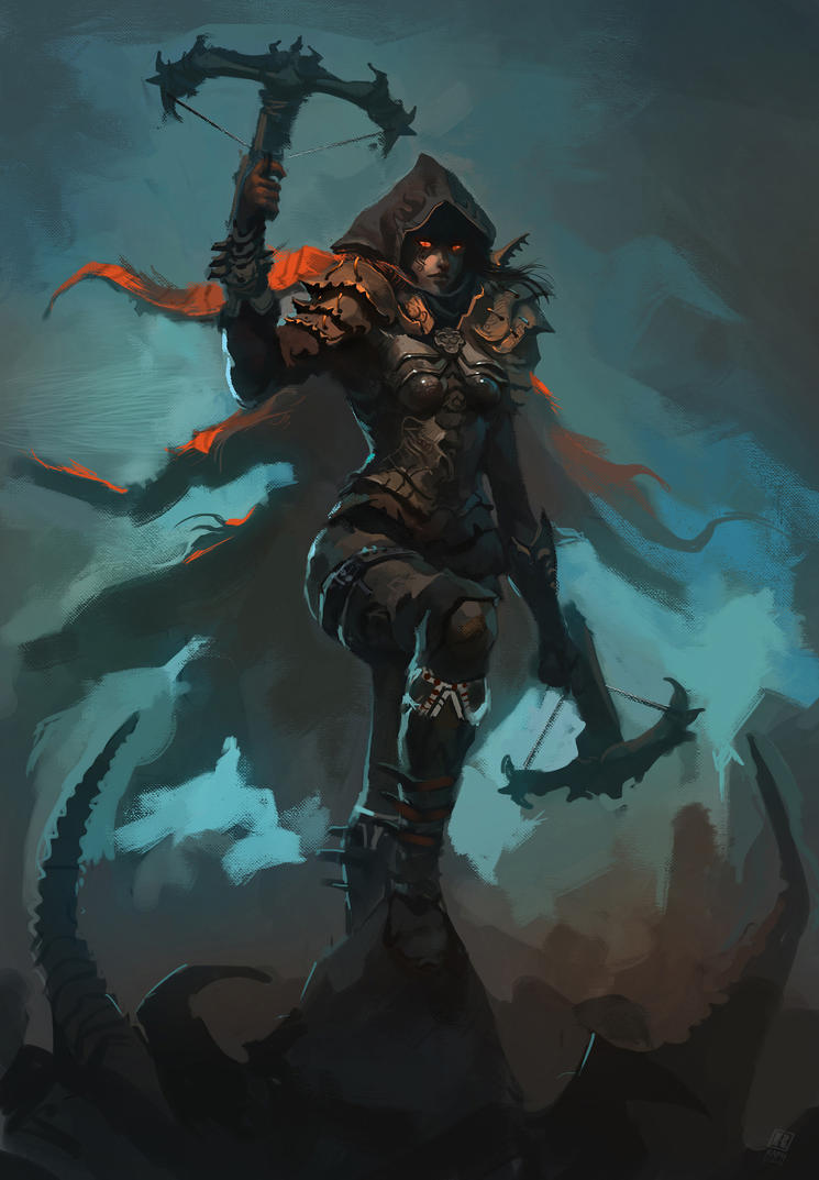 Demon hunter diablo iii by raph04art on deviantart for Demon hunter