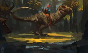 Dino Rider by RAPHTOR