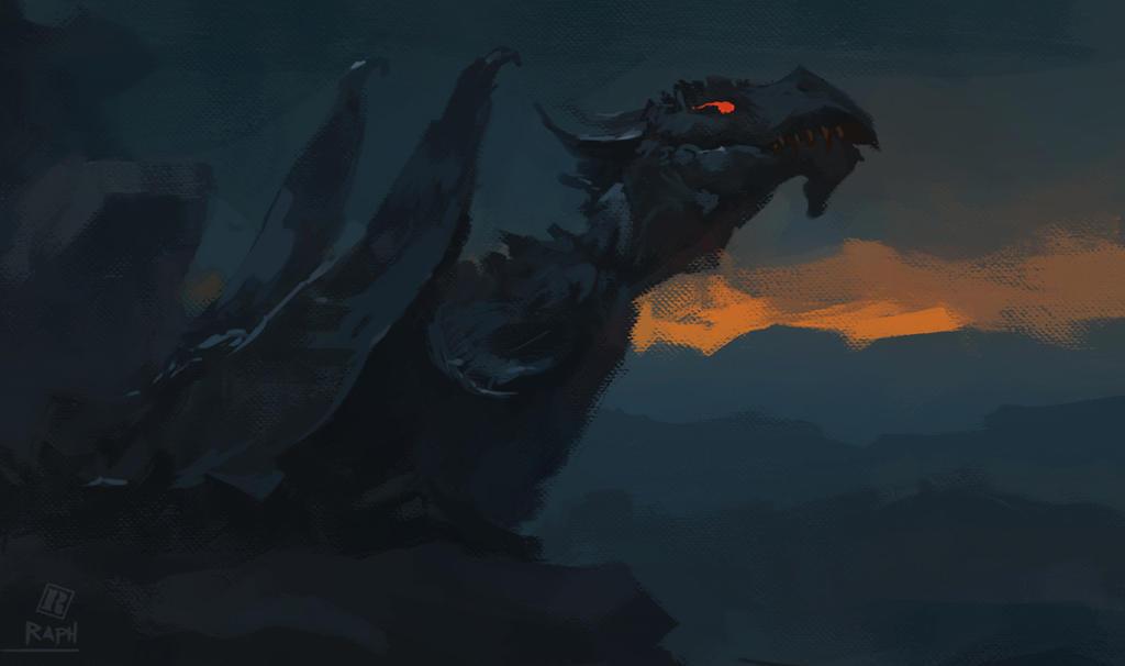 Shadow drake by Raph04art