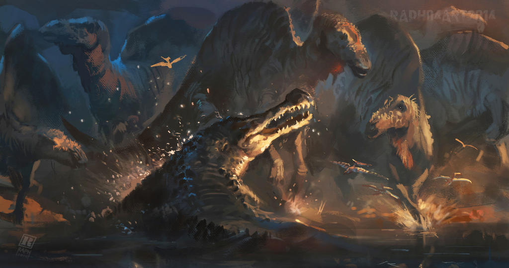 Sarcosuchus Imperator by Raph04art