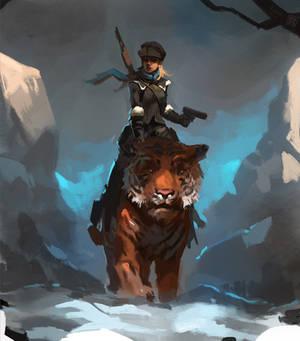 Snowmaiden of Siberia speedpaint
