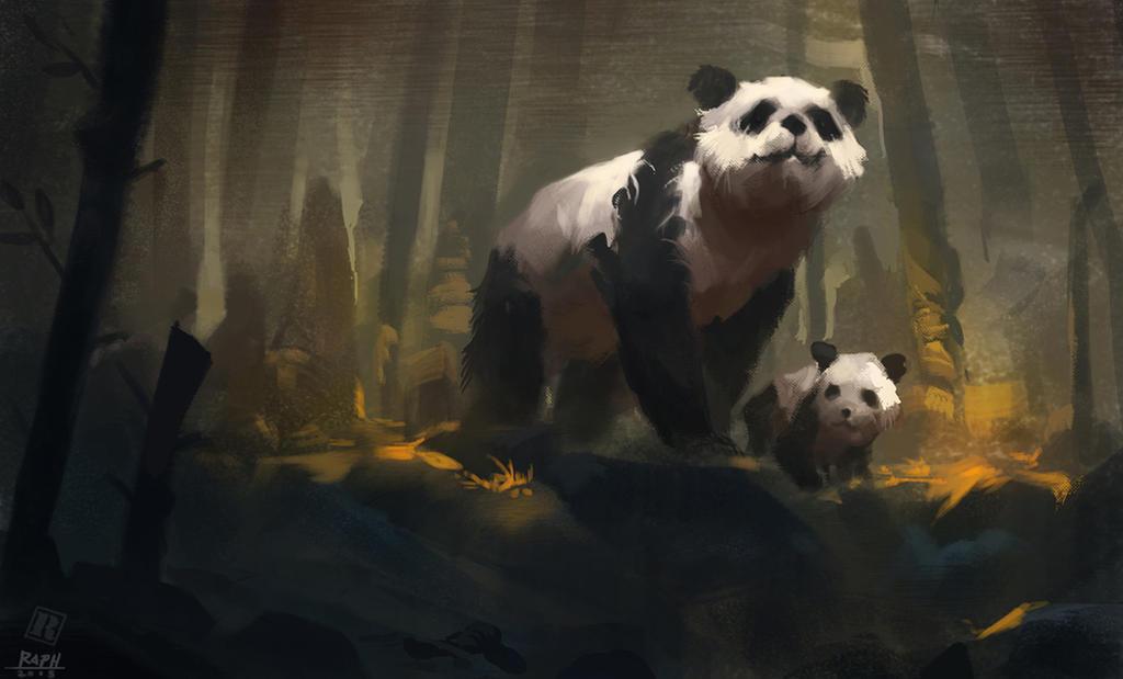 Pandas by Raph04art