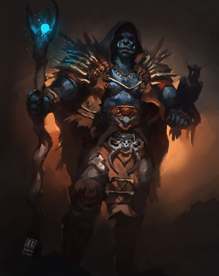 orc mage by raph04art on deviantart
