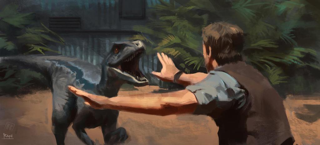 Jurassic World Raptor Study By RAPHTOR