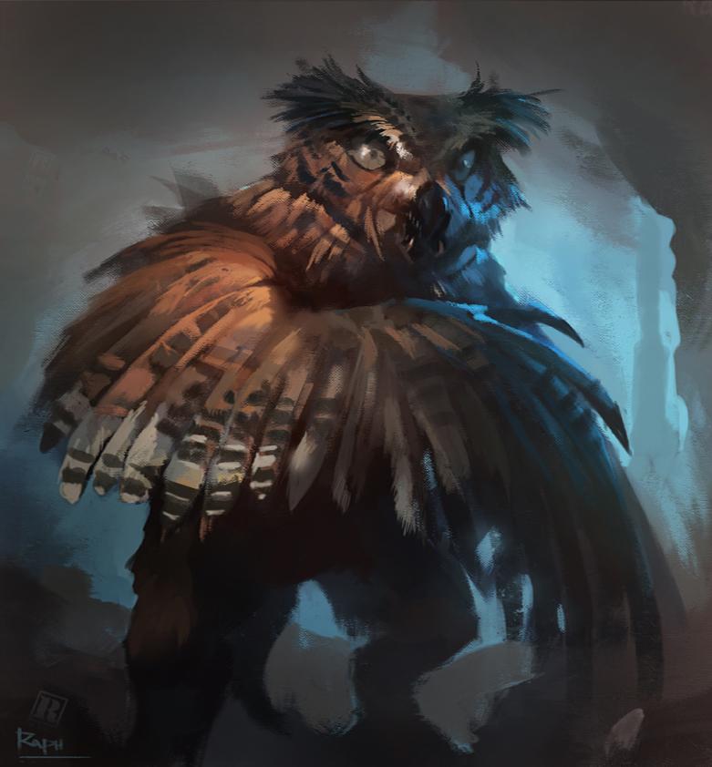 Were-owl by Raph04art