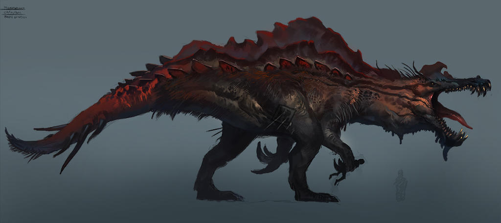 Dino Hybrid: Therospinax by Raph04art