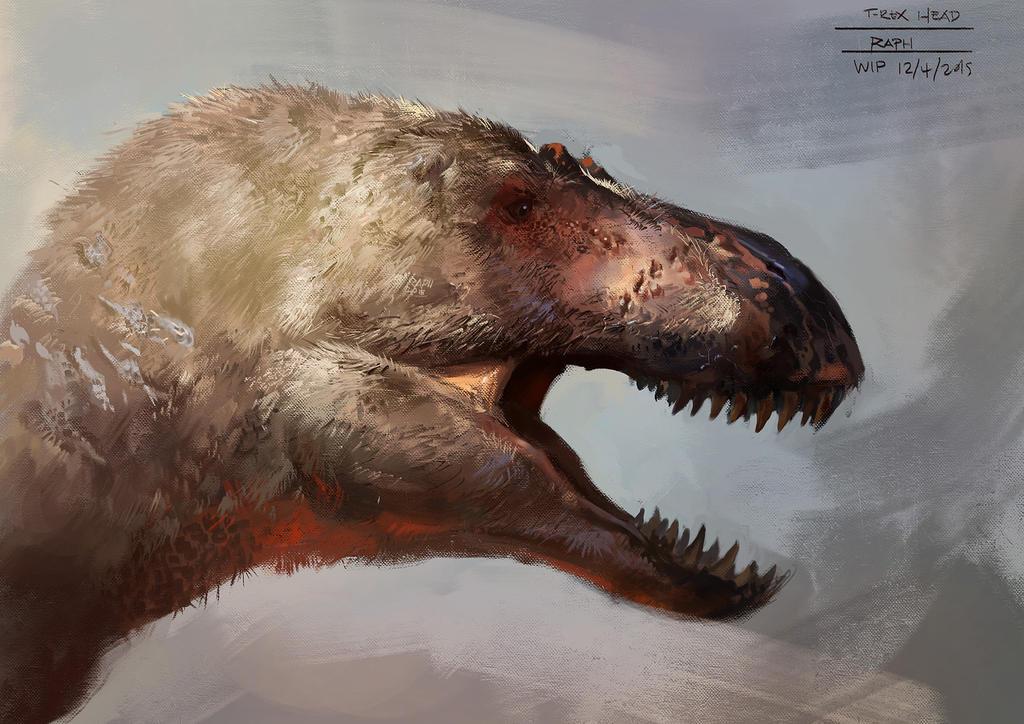 Tyrannosaurus Rex Head by Raph04art