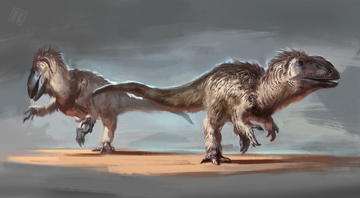 Raph Lomotan's Yutyrannus painting