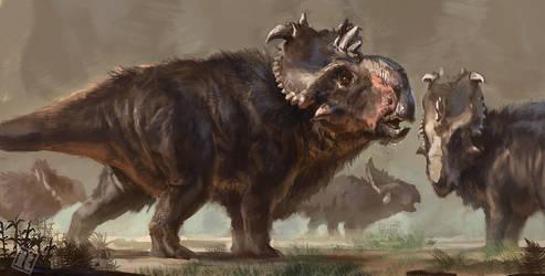Pachyrhinosaurus speculative coat by RAPHTOR