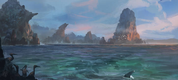 Shallows of the inland sea