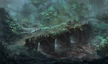 Old Bridge Ruin by RAPHTOR