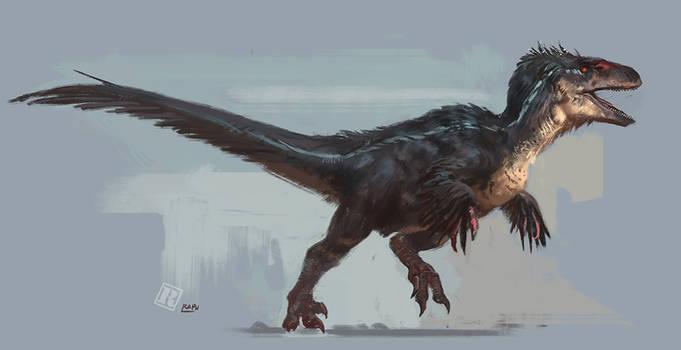 Jurassic Park 3 feathered raptor