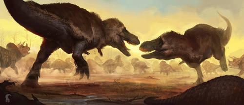 Saurian art - T. rex by RAPHTOR