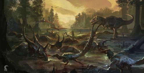 Cretaceous carnivore surplus