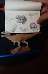Lythronax pencil sketch