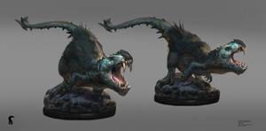 Belial the Diablotyrannus - statue concept.