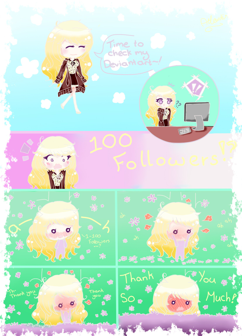 100 Followers!? by Island-Of-Atlantis on DeviantArt