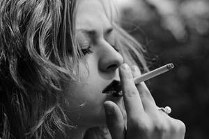 Smoking Woman by A-Rh