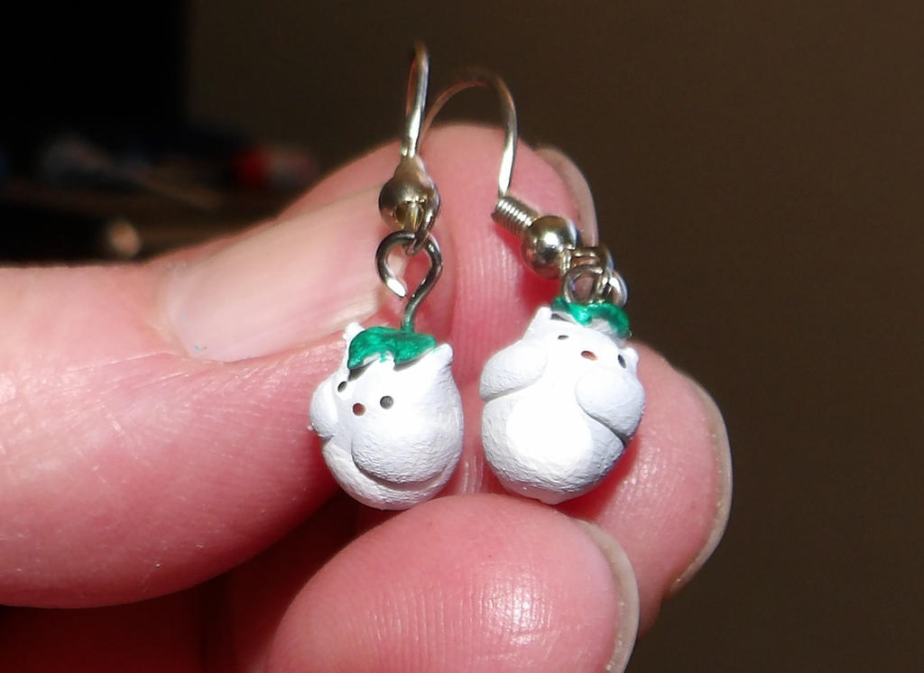 Totoro Earrings by MadMother88