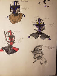 Star Wars Clone Sketches by eKnick14