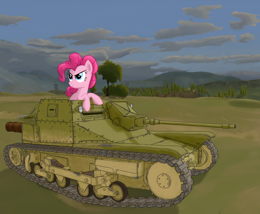 Pinkie in L3/35 tankette by LostMahPants