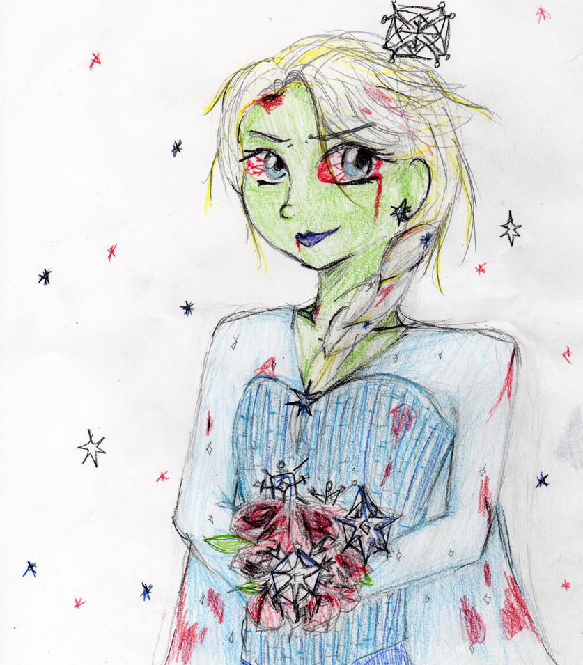 Zombie Elsa by Sakurawish