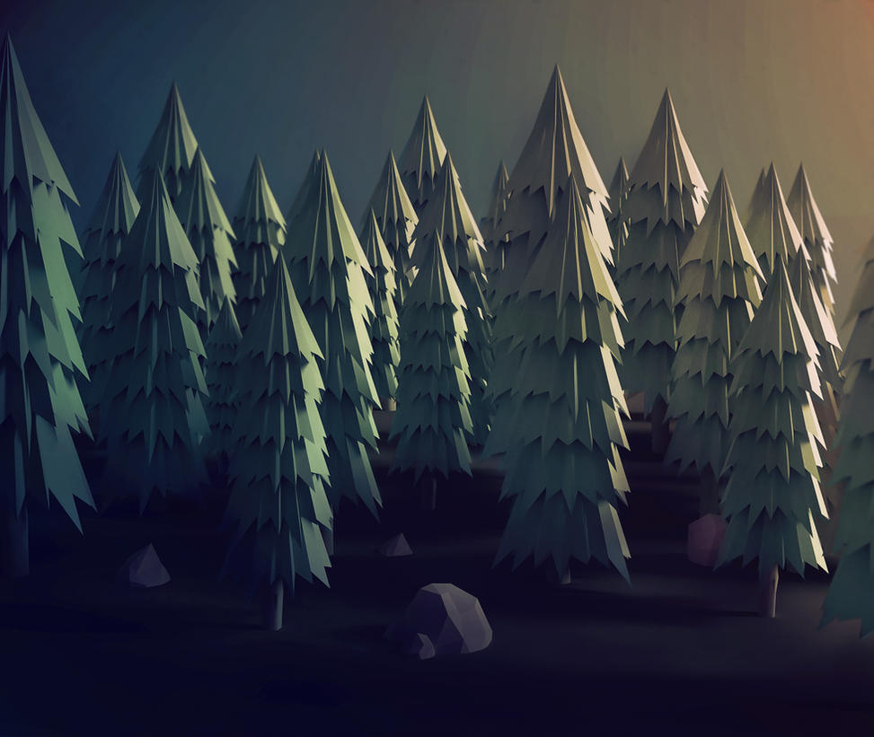 Low poly woods by pxpxp on deviantart