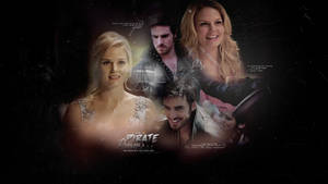 a pirate + a princess - Killian x Emma Wallpaper by take-a-leap-of-faith