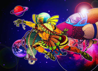 the Afronaut by MangaAngel
