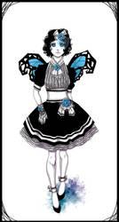 Fancy Blue Winged by Linaku