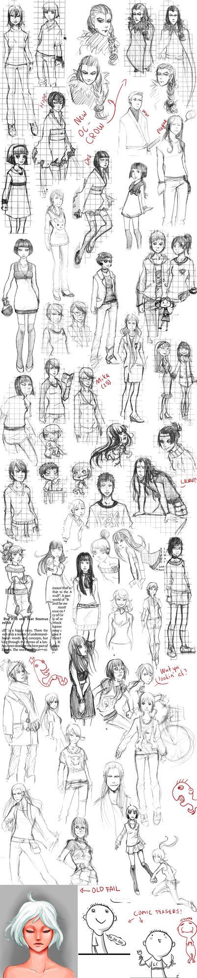 Eine Kleine Sketch Dump by Linaku