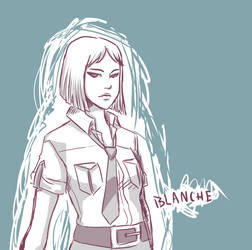 Sketch Trade: Blanche by Linaku