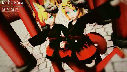 .:Kitsune Twins:. by Elopersigh