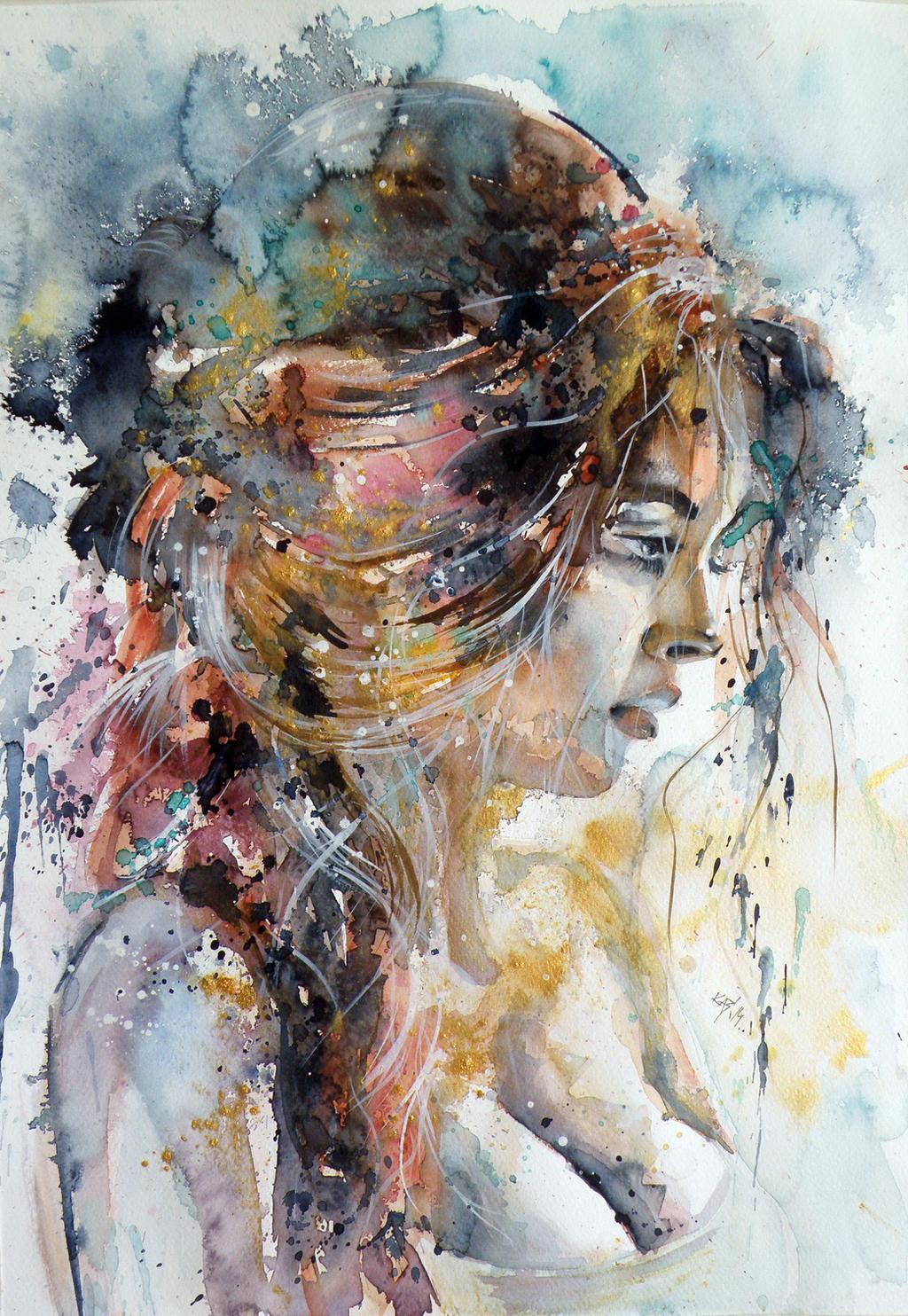 Girl in gold by kovacsannabrigitta