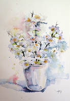 White Flowers by kovacsannabrigitta