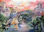 Mostar bridge by kovacsannabrigitta