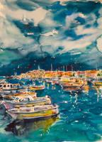 Port of Rovinj by kovacsannabrigitta