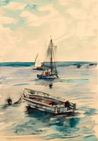 Boats by kovacsannabrigitta