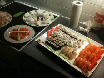 Sushi evening by yatora