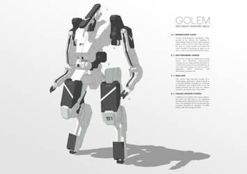 087/Heavy Infantry Mech GOLEM by M-Vitzh