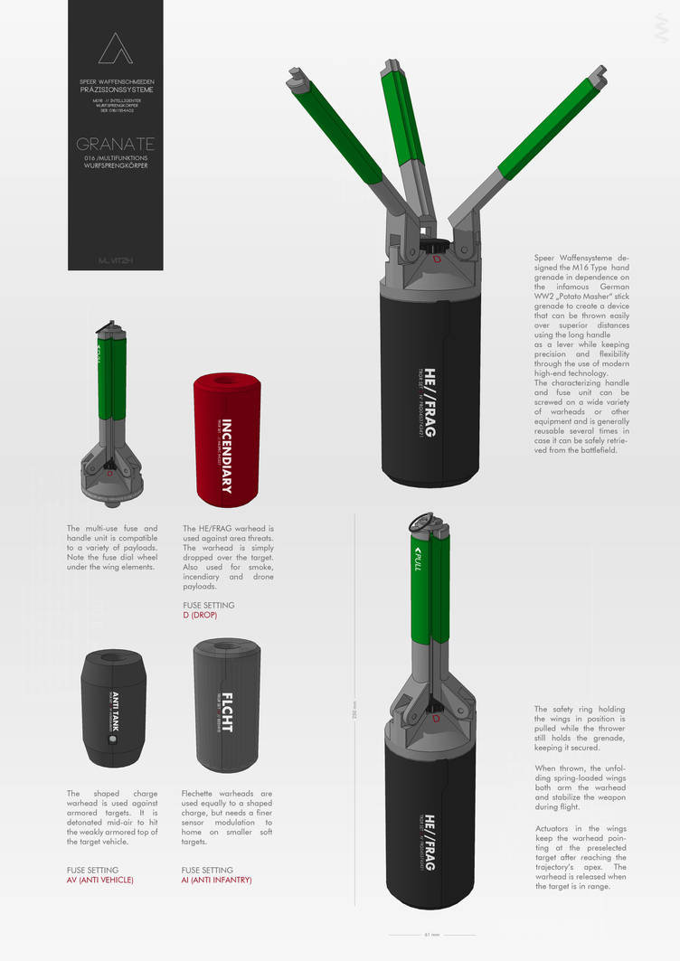 M016 // Guided Hand Grenade by M-Vitzh on DeviantArt