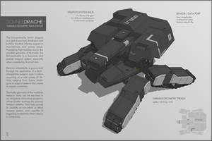SCHNEEDRACHE Drone Tank by M-Vitzh
