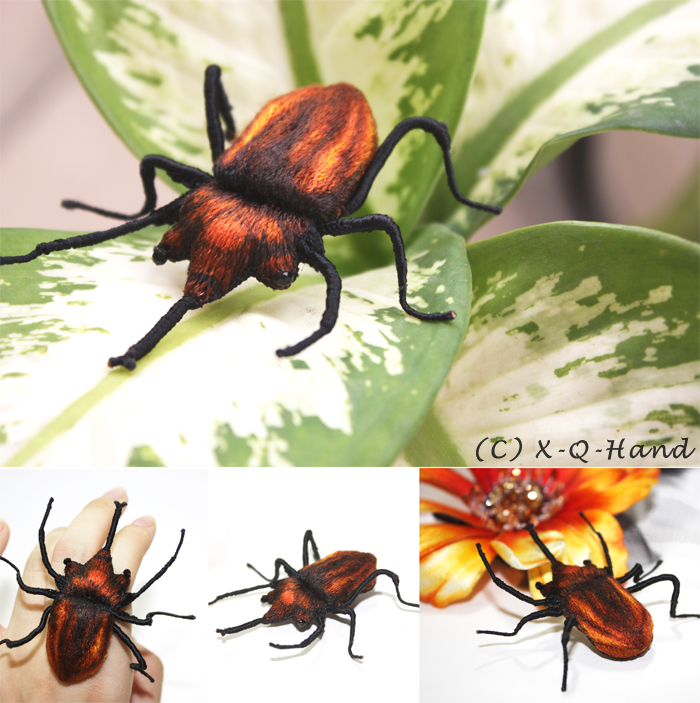 Beetle - Hand Embroidery by X-Q-Hand