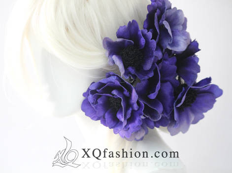 Anemone Hand Embroidery Hairpieces
