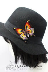 Hand Embroidery Butterfly Brooch