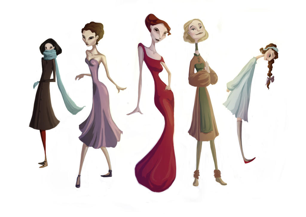 Character Design Genres : My character styles by truffalo on deviantart